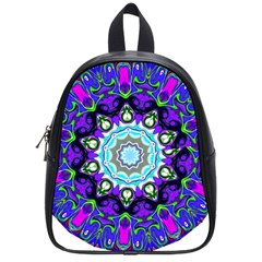 Graphic Isolated Mandela Colorful School Bags (small)  by Nexatart
