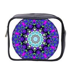 Graphic Isolated Mandela Colorful Mini Toiletries Bag 2 Side by Nexatart