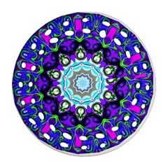 Graphic Isolated Mandela Colorful Round Filigree Ornament (two Sides)