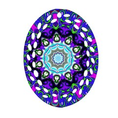Graphic Isolated Mandela Colorful Ornament (oval Filigree)