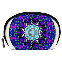Graphic Isolated Mandela Colorful Accessory Pouches (large)  by Nexatart