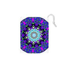 Graphic Isolated Mandela Colorful Drawstring Pouches (xs)