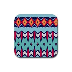 Rhombus Hearts And Other Shapes             Rubber Square Coaster (4 Pack by LalyLauraFLM