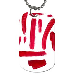 Paint Paint Smear Splotch Texture Dog Tag (two Sides) by Nexatart