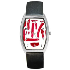 Paint Paint Smear Splotch Texture Barrel Style Metal Watch by Nexatart