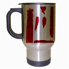 Paint Paint Smear Splotch Texture Travel Mug (silver Gray) by Nexatart