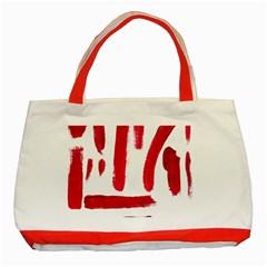 Paint Paint Smear Splotch Texture Classic Tote Bag (red)