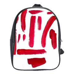 Paint Paint Smear Splotch Texture School Bags(large)