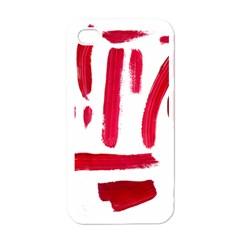 Paint Paint Smear Splotch Texture Apple Iphone 4 Case (white) by Nexatart