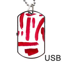 Paint Paint Smear Splotch Texture Dog Tag Usb Flash (one Side)