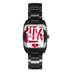Paint Paint Smear Splotch Texture Stainless Steel Barrel Watch