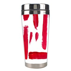 Paint Paint Smear Splotch Texture Stainless Steel Travel Tumblers by Nexatart