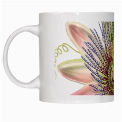 Passion Flower Flower Plant Blossom White Mugs by Nexatart