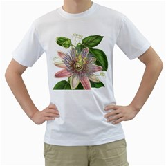 Passion Flower Flower Plant Blossom Men s T Shirt (white) (two Sided) by Nexatart
