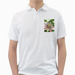 Passion Flower Flower Plant Blossom Golf Shirts