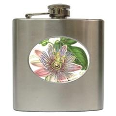 Passion Flower Flower Plant Blossom Hip Flask (6 Oz)