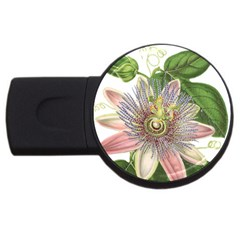Passion Flower Flower Plant Blossom Usb Flash Drive Round (4 Gb) by Nexatart