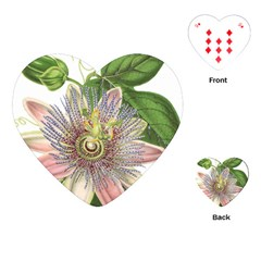 Passion Flower Flower Plant Blossom Playing Cards (heart)  by Nexatart