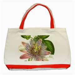 Passion Flower Flower Plant Blossom Classic Tote Bag (red)