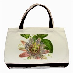 Passion Flower Flower Plant Blossom Basic Tote Bag (two Sides) by Nexatart
