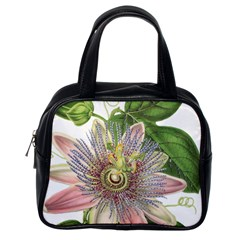 Passion Flower Flower Plant Blossom Classic Handbags (one Side) by Nexatart