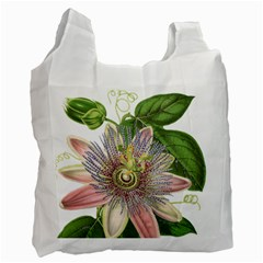 Passion Flower Flower Plant Blossom Recycle Bag (two Side)  by Nexatart