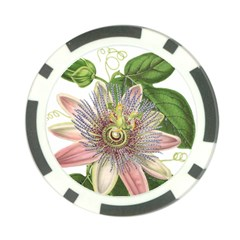 Passion Flower Flower Plant Blossom Poker Chip Card Guard (10 Pack) by Nexatart