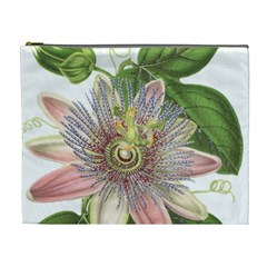 Passion Flower Flower Plant Blossom Cosmetic Bag (xl) by Nexatart