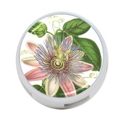 Passion Flower Flower Plant Blossom 4 Port Usb Hub (two Sides)  by Nexatart