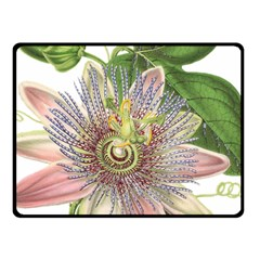 Passion Flower Flower Plant Blossom Fleece Blanket (small)