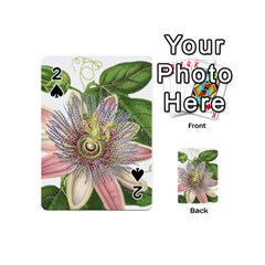 Passion Flower Flower Plant Blossom Playing Cards 54 (mini)  by Nexatart