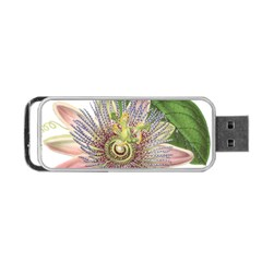 Passion Flower Flower Plant Blossom Portable Usb Flash (one Side) by Nexatart