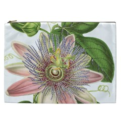 Passion Flower Flower Plant Blossom Cosmetic Bag (xxl)  by Nexatart