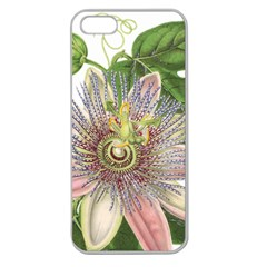 Passion Flower Flower Plant Blossom Apple Seamless Iphone 5 Case (clear) by Nexatart