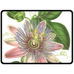 Passion Flower Flower Plant Blossom Double Sided Fleece Blanket (large)
