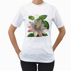 Passion Flower Flower Plant Blossom Women s T Shirt (white)  by Nexatart