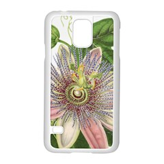 Passion Flower Flower Plant Blossom Samsung Galaxy S5 Case (white) by Nexatart