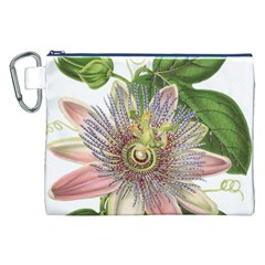 Passion Flower Flower Plant Blossom Canvas Cosmetic Bag (xxl) by Nexatart