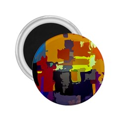 Abstract Vibrant Colour 2 25  Magnets