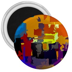 Abstract Vibrant Colour 3  Magnets by Nexatart