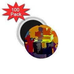 Abstract Vibrant Colour 1 75  Magnets (100 Pack)