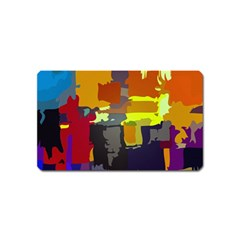 Abstract Vibrant Colour Magnet (name Card)