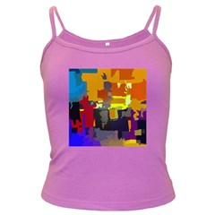 Abstract Vibrant Colour Dark Spaghetti Tank