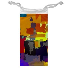 Abstract Vibrant Colour Jewelry Bag by Nexatart
