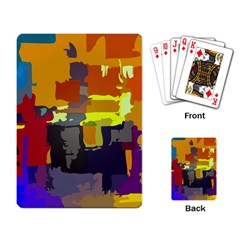 Abstract Vibrant Colour Playing Card by Nexatart