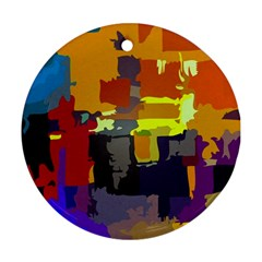 Abstract Vibrant Colour Round Ornament (two Sides)