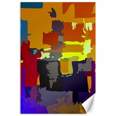 Abstract Vibrant Colour Canvas 24  X 36  by Nexatart