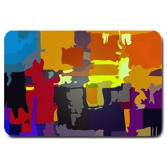Abstract Vibrant Colour Large Doormat  by Nexatart