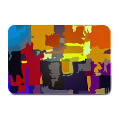 Abstract Vibrant Colour Plate Mats by Nexatart