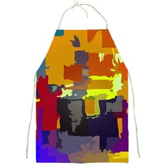 Abstract Vibrant Colour Full Print Aprons by Nexatart
